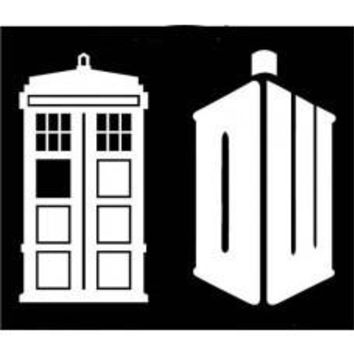 Doctor Who DW Tardis Decal Set (Sizing refers to the height of decal) Car Window Vinyl Decal Tablet PC Sticker