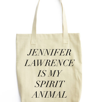J Law Is My Spirit Animal Tote