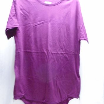 NWT Galaxy by Harvic Men's Burgundy T-Shirt Side Zipper Accent Size Small