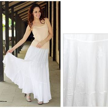 Best White Peasant Skirt Products on Wanelo