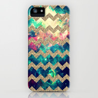 Glitter Space 4 - for iphone iPhone & iPod Case by Simone Morana Cyla