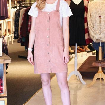 Classic Corduroy Overall Dress {Blush}