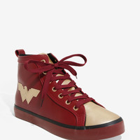 DC Comics Wonder Woman Faux Leather Hi-Top Sneakers