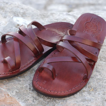 On sale Best flat summer sandal women shoe brown leather and classic style  greece sandal c01b656198