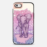 Cute Baby Elephant in pink, purple & blue iPhone 5s case by Micklyn Le Feuvre | Casetify
