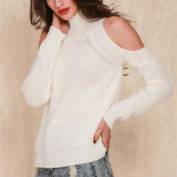 Fashion  Knit Turtleneck Sweater