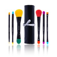 SHANY 5 Piece Double Sided Essential Brush Set with Travel Pouch