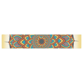 "Famenxt ""Floral Mandala"" Multicolor Geometric Table Runner"
