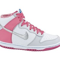 Kid's Nike Dunk High White Metallic silver Pink Platinum 316604 115 Sneakers
