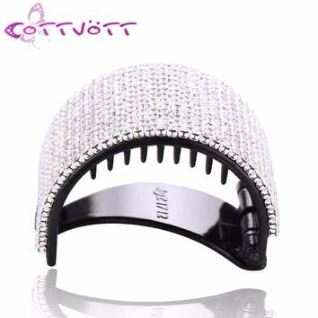New Round Crystals Hair Claws Family Hair Acrylic Jaw Ponytail Clips Women Girls Hair Grip Clasp Clamp Crab Hair Jewelry HC322