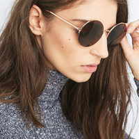 Rose Gold Round Sunglasses - Urban Outfitters