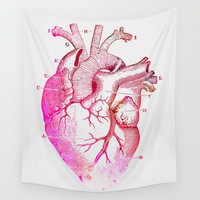 Anatomy Of The Heart Wall Tapestry by cadinera