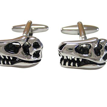 Dinosaur Head Fossil Cufflinks