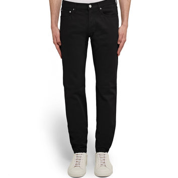 Givenchy - Rico-Fit Embroidered Stretch-Denim Jeans
