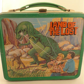 1975 Land of the Lost metal lunch box by kitschnswell on Etsy