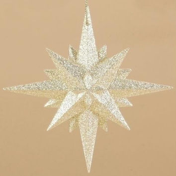 12 Christmas Ornaments - Gold Moravian Star