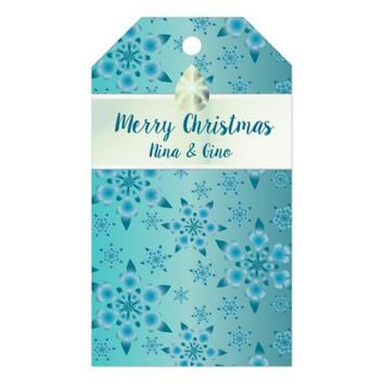 Snowflakes Pattern Gift Tags