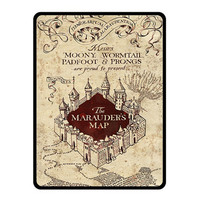 "Fleece Blanket - MARAUDERS MAP Harry Potter Fleece Blanket Bed Throw Size Medium 50"" x 60"" / Large 60"" x 80"" Ideal Gift"