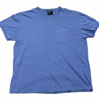 Vintage Polo by Ralph Lauren Pocket T-Shirt Mens Size Medium