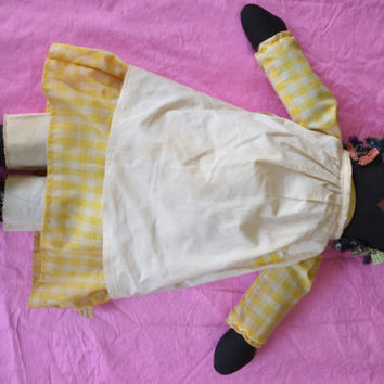 Vintage, Fairfield Folk Art, Black Doll.
