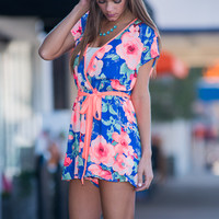 All My Love Romper, Royal Blue