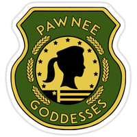 'Pawnee Goddess - Parks & Recreation' Sticker by callmehiwatt