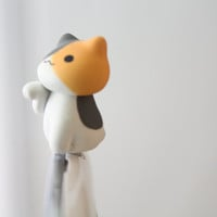 SALE30-70%OFF: Cute orange cat sitting iPhone Plug . Dust Plug . Phone Plug . Phone Charm Cats, Kawaii, Lovely, Girly, Cat