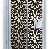 Black & White Damask Locker Wallpaper