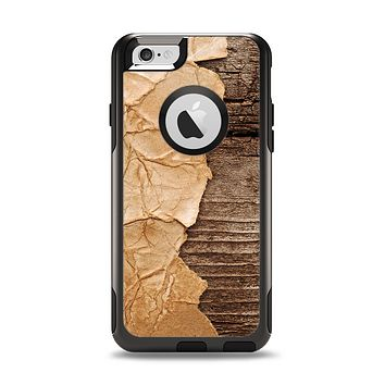 The Vintage Paper-Wrapped Wood Planks Apple iPhone 6 Otterbox Commuter Case Skin Set