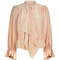 Chloé Tie Neck Silk Blouse | Harrods.com