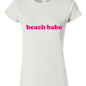 Beach Babe Ladies Beach Trending 2016 T Shirt Fun Beach Lover Unisex Ladies Style T Shirts All Color Beach Babe shirt