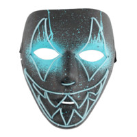 Sharp Tooth EL Wire Mask - Sky Blue