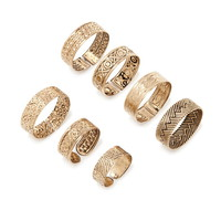Ornate Etched Ring Set | Forever 21 - 1000168072