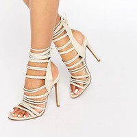 Boohoo Strappy Rope Detail Heeled Sandal