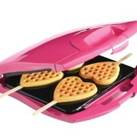 Babycakes Nonstick Waffle Maker Makes 4 Heart Waffles on Sticks: Kitchen & Dining