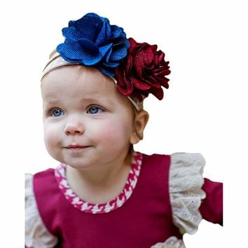 Giggle Moon-Royal Beauty Knit Headband  (size Toddler)