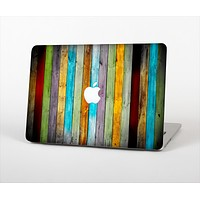 The Vintage Colored Wooden Planks Skin Set for the Apple MacBook Air 13""