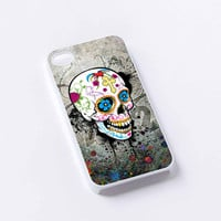skull flower iPhone 4/4S, 5/5S, 5C,6,6plus,and Samsung s3,s4,s5,s6