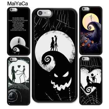 MaiYaCa The Nightmare Before Christmas Printed Soft Rubber Phone Case For iPhone 6 6S Plus 7 7 Plus 8 X 5 5S SE Back Cover Shell