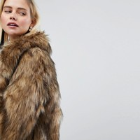 Warehouse Faux Fur Jacket at asos.com