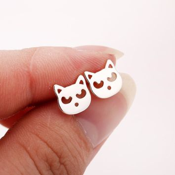 Women Fashion Earings Cute Animal Cat Stud