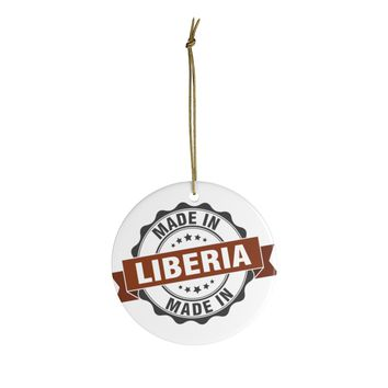Made In Liberia Ceramic Christmas Ornaments