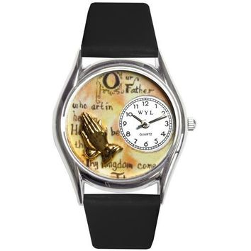 Lord's Prayer Watch Small Silver Style