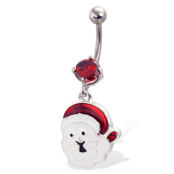 Christmas Santa Belly Button Ring