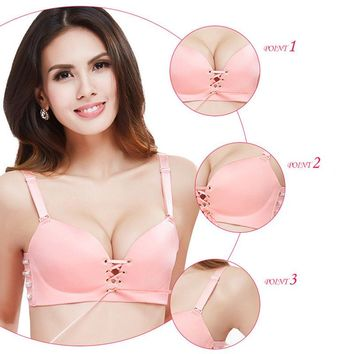 1Pcs Push Up Bra for Women Bralette Sexy Lingerie Lace Up Intimates Bras Wire Free Seamless Bra Woman Underwear Soutien Gorge