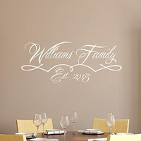 Family Wall Decals Personalized Name Decor Monogram Decal Stickers Living Room Home Bedroom Decor Ds313