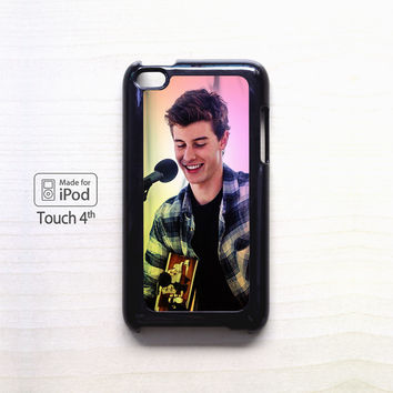 shawn mendes tumblr background for Ipod 4/Ipod 5 apple case