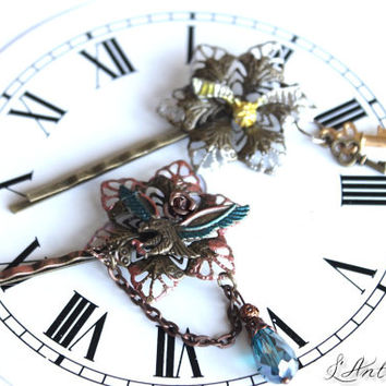 "Barrette fantasy harry potter ""Hogwarts Time"" version Quidditch / Ravenclaw"