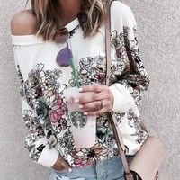 Digital prints shoulder long sleeves [10944599303]