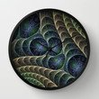 Filigree Fractal Art Wall Clock by Gabiw Art | Society6